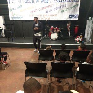man speaking at Freedom School
